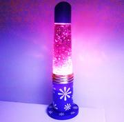 Flower power purple glitter lamp