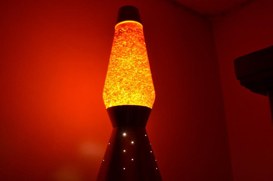 Small Holo Strand Glitter in Orange Liquid.