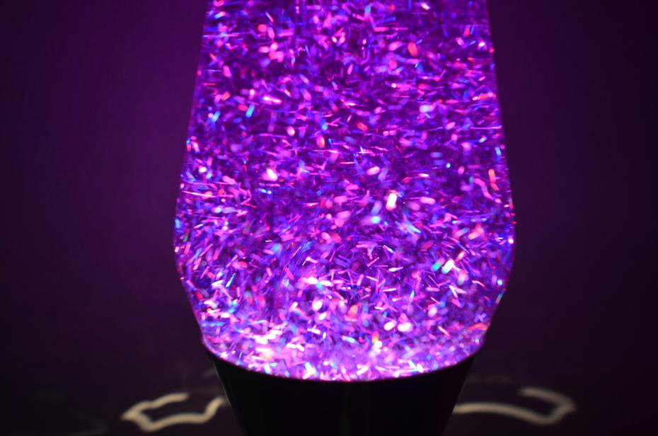 Small Holo strand glitter in purple.