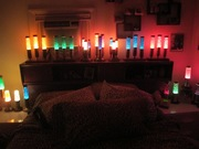 TRIPLE GLITTER FLORENCE ART CO. LAMPS