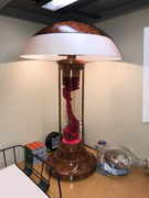 Lava table lamp - woodgrain