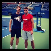 Stan and Andy Practice at the US Open 2013