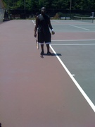my tennis game at 41.self taught