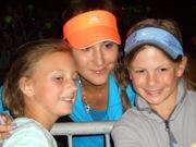Belinda Bencic with Fans