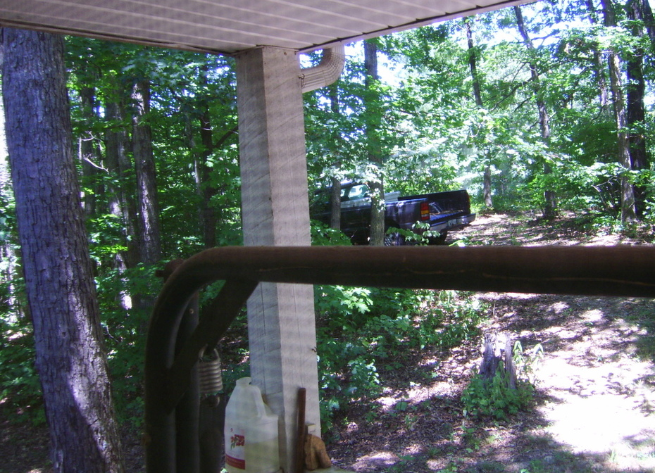 Pickup blocking view of Perp's Observation Post.