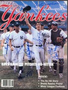 Aug 1984 Yankee Magazine signed by righetti, Zimmer, others