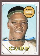 1969 topps signed willie smith