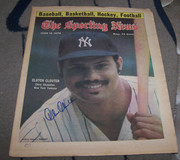 chris chambliss signed sporting news 6/12/1976 issue