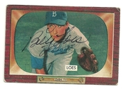 1955 Bowman signed by Billy Loes