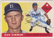 1955 Topps signed Don Zimmer