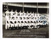 Yankee co-owner Del Webb signed 1958 team photo