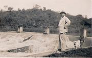 Sr. Humberto em pescaria no Rio Bertim, déc. 40