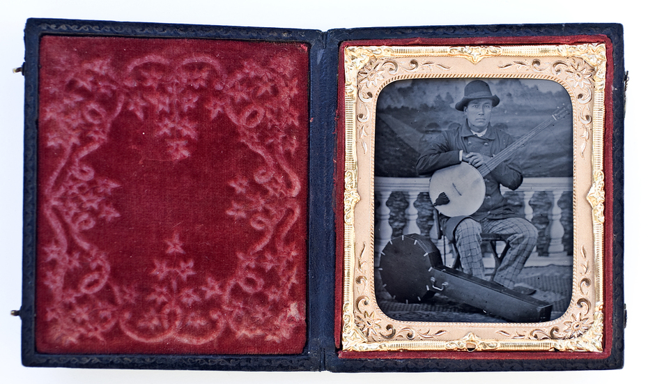 Ed as 1850s banjo player