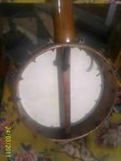 Heseltine banjo inside the hoop