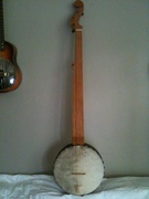 Fretless Menzies Tackhead banjo