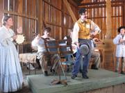 Elaine & John Masciale, Cory Rosenberg, John Allin   (back) Carl Anderton and Richard Green on fiddle