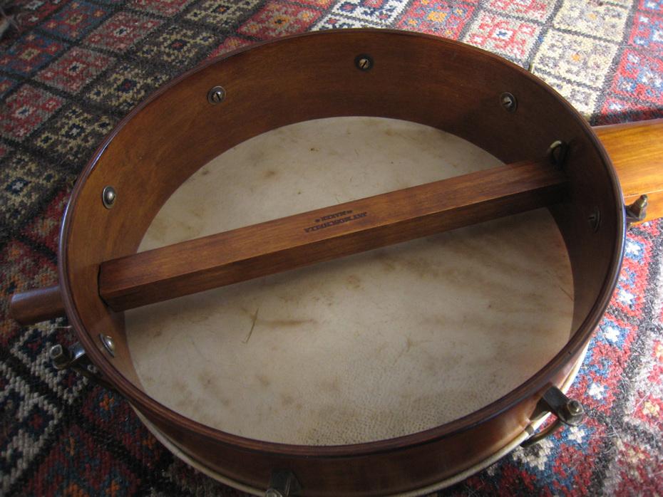 Ed's banjo, back