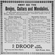 banjo ad evening dtar 9-26-1895