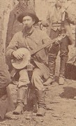 Banjo player, Leadville, Colorado 1870s
