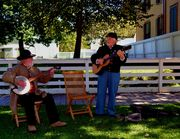 curtis Payne and steve Ball playing at President Lincolns house corner