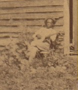 Close-up of banjo player in Reams, Virginia photo
