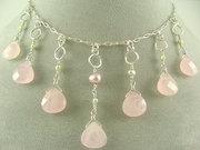 prom necklace rosequartz