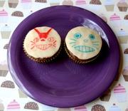 Totoro and Catbus Cupcakes!
