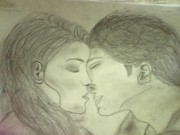 Drawing of Edward and bella