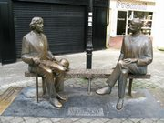 Galway Wilde statues