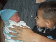 Daniel and his new baby brother Robert