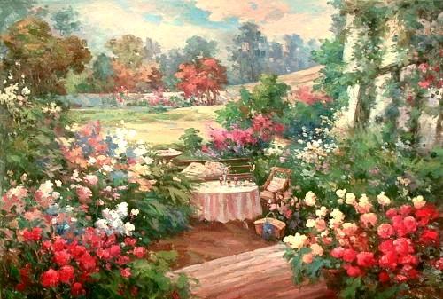 Garden painting