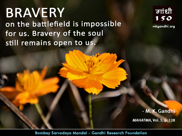 Thought For The Day ( BRAVERY )
