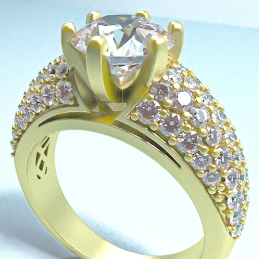 Ring Solitaire with Micro Pave Setting