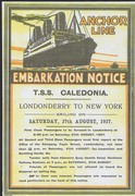 1927 Embarkation notice