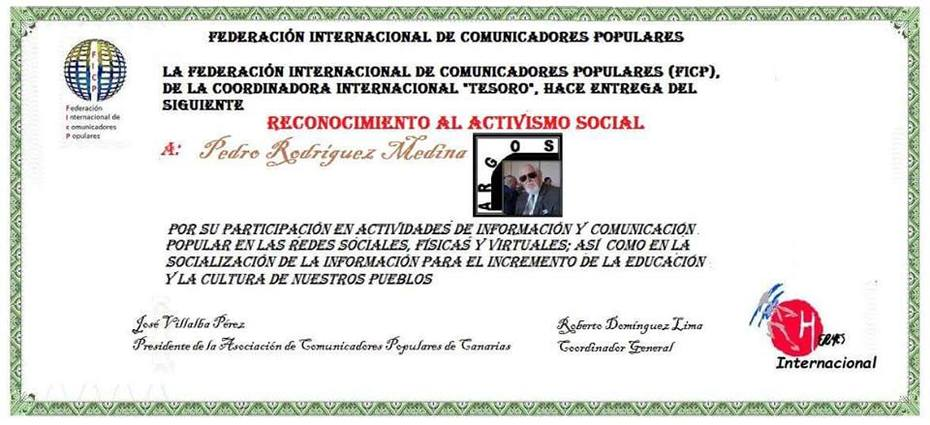 FEDERACION INTERNACIONAL DE COMUNICADORES POPULARES
