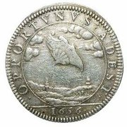 ufo in 1656 coin