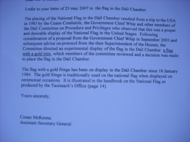 Response Letter to the 'Rag on the Flag'.
