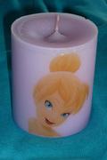 Λιλά κερί με την Tinkerbell