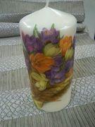 κερι με λουλουδια