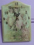 Ρολόι τοίχου με παλαίωση ξύλου