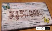 ξυλινη χειροπολιητη ταμπέλα