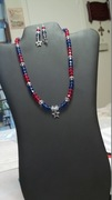 Red, Clear, & Blue Beads with Star