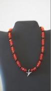 Orage & Black Beads with Hummingbird