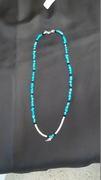 Sleeping Beauty Turquoise with Pearls & Swarvoski Beads & Angel Wing