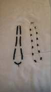 Black & White Necklace with Angel Wing