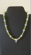 Green & Clear Beads with Hummingbird