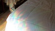 What it looks like when the sun shines through it.