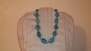Turquoise stones & silver beads