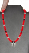 Red, Black & Clear crystal beads