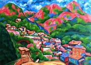 A Foggy Mountain Town of Kim-koe-chioh